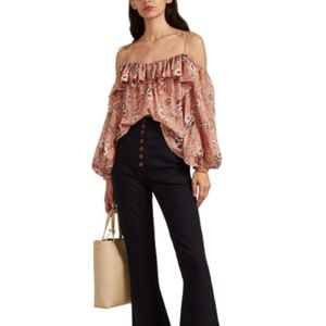 Ulla Johnson Coline Floral Silk blouse